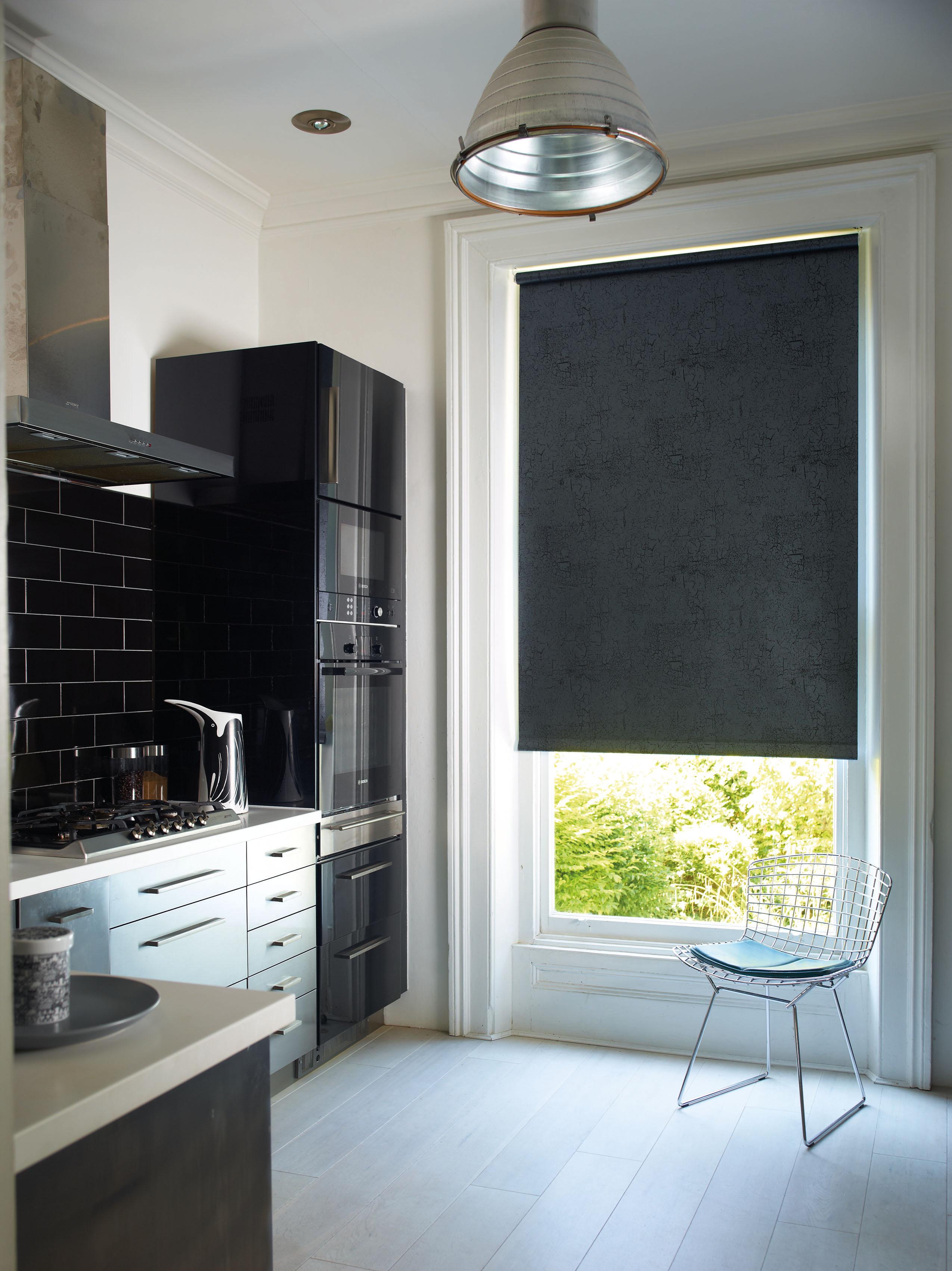 Black bathroom blinds - Metz Black